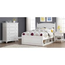white bedroom sets full. Mila 3-piece Full Storage Bedroom Set White Sets