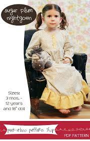 Peek A Boo Patterns Simple PeekaBoo Pattern Shop Sugar Plum Nightgown Downloadable Pattern