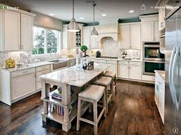 Wide Plank Hardwood Floors White Cabinets Light Granite