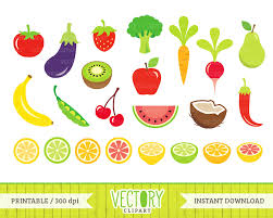 fruit food group clipart. Delighful Group 23 Fruits And Vegetables Clip Art Healthy Food By VectoryClipart Intended Fruit Group Clipart