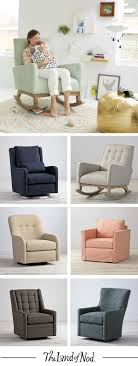 Our modern upholstered rocking chairs and gliders are expertly crafted and  designed for the nursery,