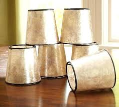 miniature lamp shades for chandeliers mini mica drum chandelier shade set of 3 pottery barn glass