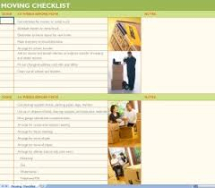 House Moving Checklist Excel Template House Moving Checklist