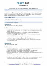 Resume sample format for students student resume sample. Student Nurse Resume Samples Qwikresume