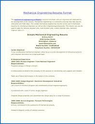 Resume Template Mechanical Engineer Engineering Format