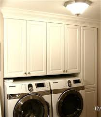 easier access to upper laundry cabinets