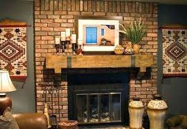 brick wall decor lovely how to decorate a red fireplace mantel 5 ways for hearth ideas