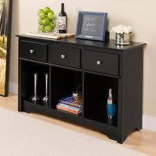 Prepac Sonoma Black Storage Console Table BLC 4830 K The Home Depot