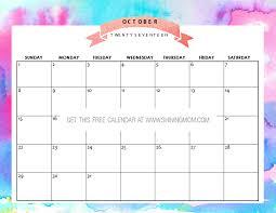 october calendar 2017 pinterest