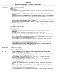 Stunning Compensation Analyst Resume For Your Benefits Analyst