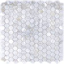 river bed nature pearl shell mosaic 12 x hexagon pure white with regard to tile design 8