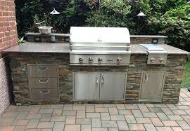 delta heat outdoor kitchen with eldorado veneer stone
