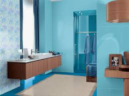 Blue and brown bathroom designs Aqua Bluebrown Color Scheme Light Blue Bathroom Paint Color And Wooden Cabinets Lasarecascom Bathroom Decorating In Bluebrown Colors Chocolate Inspiration