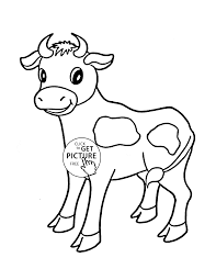 Little Cow Coloring Page For Kids