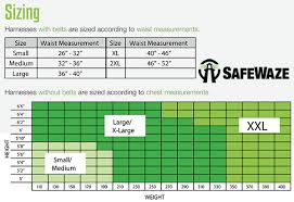 Hunter Safety System Size Chart Harness Sizing Charts Harness Land