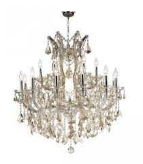 maria theresa collection 19 light chrome finish and golden teak crystal chandelier 30 d x