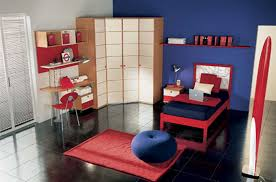 Corner Cabinets For Bedroom Appealing Kids Bedroom With Blue Wall Paint Simle Corner Cabinet