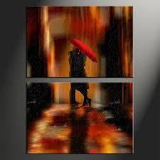 home wall decor 2 piece canvas art prints abstract wall decor abstract wall on couple with red umbrella wall art with 2 piece modern red umbrella canvas photography