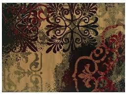 fleur de lis wool area rug scrolls