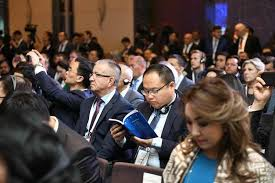 kazakhstan global investment roundtable meeting brought together 1 100 leaders of major companies of the world and the country international experts