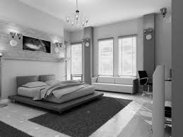 bedroom black and white room ideas with accent color chandelier platform bed red covered bedding