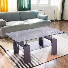 full size of magnificent tangkula rectangular glass coffee table shelf wood living roomture layout with fireplace