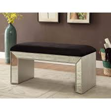 Mirrored Bedroom Bench Mirrored Furniture Mock Croc Upholstered Bench Dressing Stool