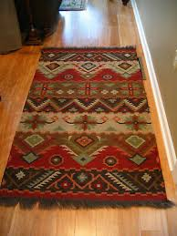 vntg wool southwest native american style indian area rug 72 x 42