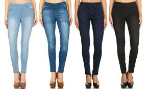 Up To 66 Off On Womens Denim Jeggings S 3x Groupon Goods