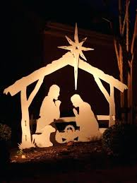 outdoor manger set wooden nativity sets for