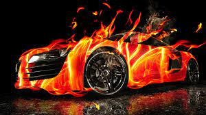 Hd 3d Hd Car Fire Wallpaper, Image ...