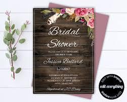 Bridal Shower Invitation Templates Custom Floral Bridal Shower Invitation Template Floral Shower Invitations