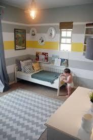 Wren U0026 Owenu0027s Happy Striped Room | Cowboys, Striped Walls And Yellow Stripes