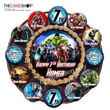Tccb01 Avengers Birthday Cake Delivery Singapore