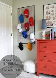 DIY: Pegboard Baseball Cap Organizer - The perfect 'home' for the hat  collection