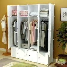 Closet Clothes Organizer Portable Clothes Closet Wardrobe Bedroom Storage  Organizer Durable White Portable Closet Storage Organizer Wardrobe Clothes  Rack ...