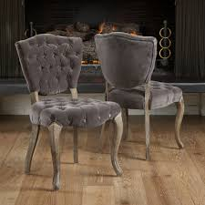 tufted dining chair beige chairs grey set