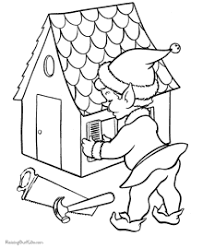 Small Picture Christmas Coloring Pages of Santas Elves