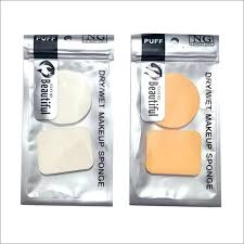 2 pieces dry and wet makeup sponge