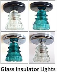custom glass insulator light fixture vintage insulator ceiling