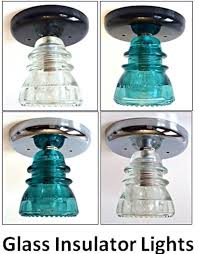 custom glass insulator light fixture vintage insulator ceiling