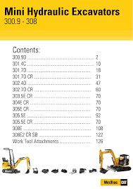 Mini Excavator Size Chart 301 7d Cr Mini Hydraulic Excavator Specifications Manualzz Com