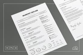 Resume Font ResumeCV Murphy Resume Templates Creative Market 67