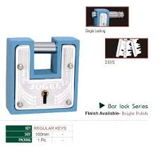 Lock And Key Bar Jogee With Key Bar Lock Series Bright Rs 125 Piece Im