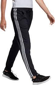 Women S Adidas Designed 2 Move Striped Performance Pants Adidas Design To Move 3 Stripe Pants In Black Lyst