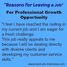 acceptable reasons for leaving a job