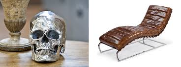 regina andrew furniture chaise vintage leather aged silver skull crc=