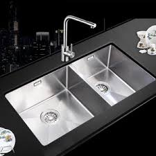 Double Kitchen Sink  Stainless Steel  Square  Commercial  503 Stainless Steel Double Kitchen Sink