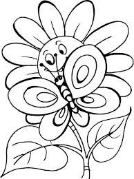 Flowers Coloring Pages For Adults Coloring Pages Of Butterflies And