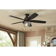 hunter allegheny 52 in new bronze outdoor flush mount ceiling fan with light kit